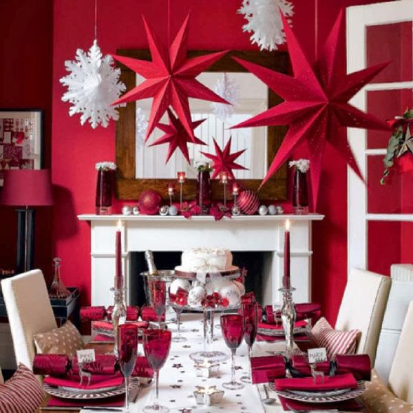 a truly festive looking red and white themed christmas decor you can remake your house