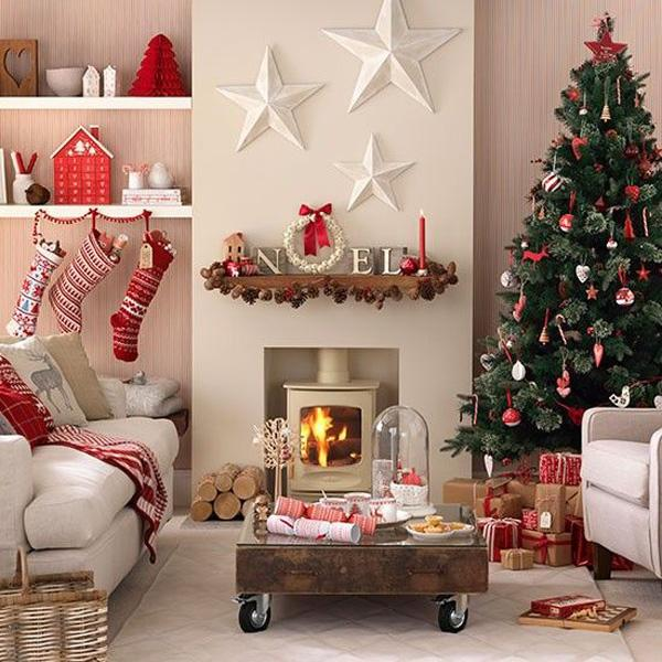 65 christmas home decor ideas art and design for Xmas living room ideas