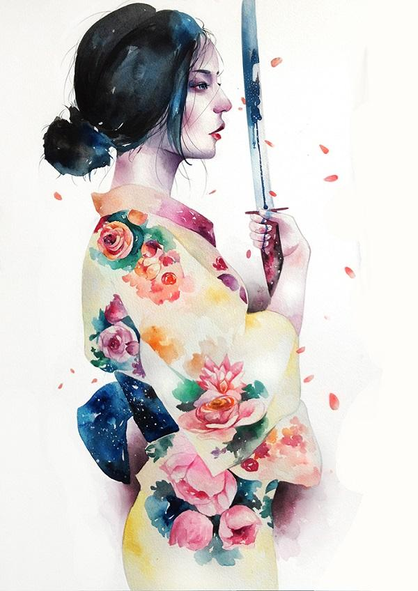 watercolor illustrations by kazel lim art and design
