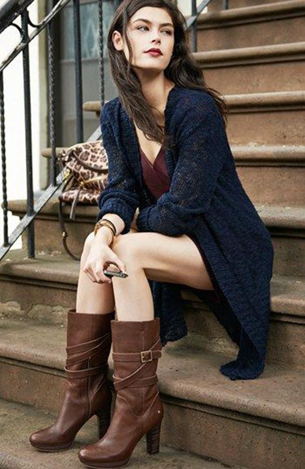 Long sweaters with  boots