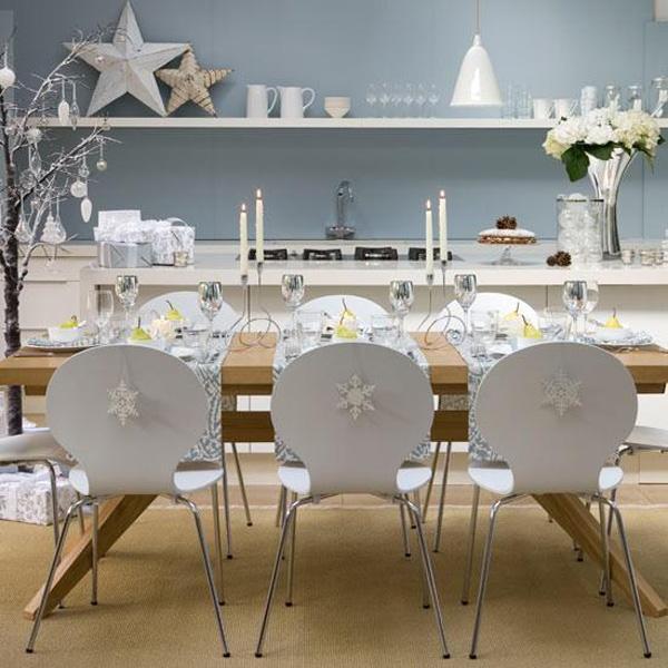 Pretty white Christmas decor