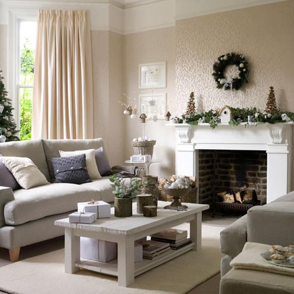 65 christmas home decor ideas art and design for Living room xmas ideas