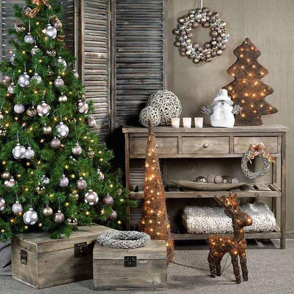 add the feeling of home and comfort into your home using wood and twigs - Christmas Home Decor Ideas