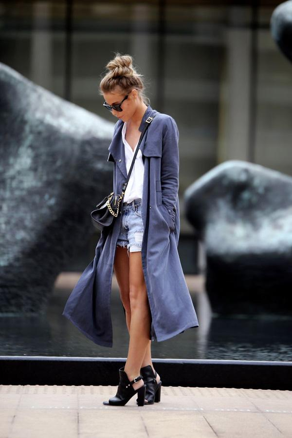 denim shorts for fall