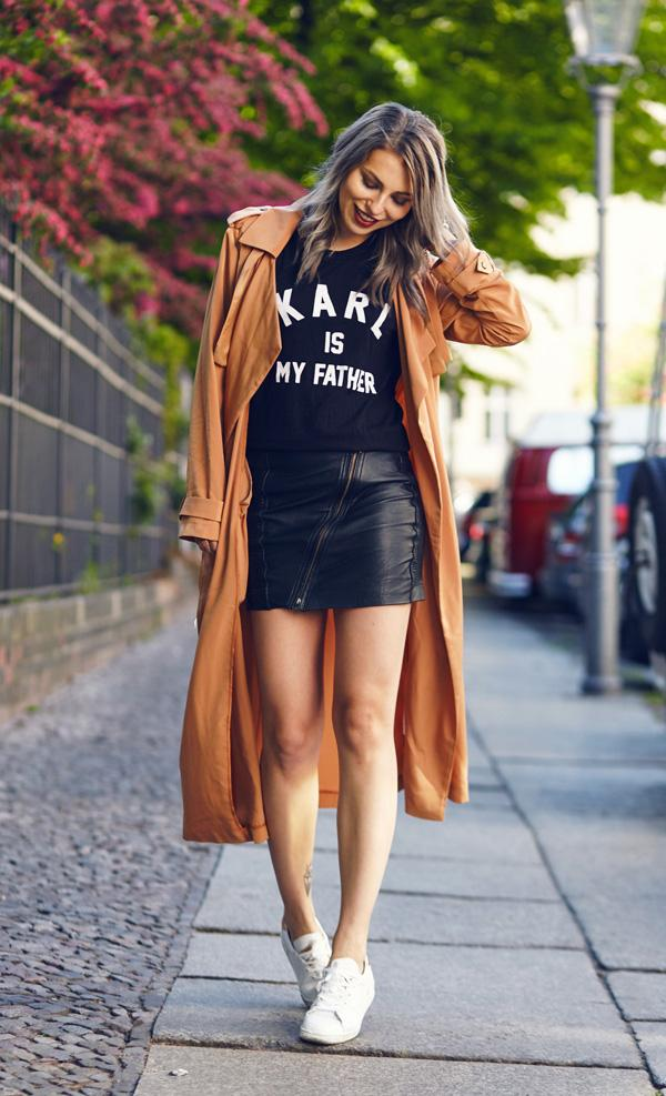 leather embellished skirt