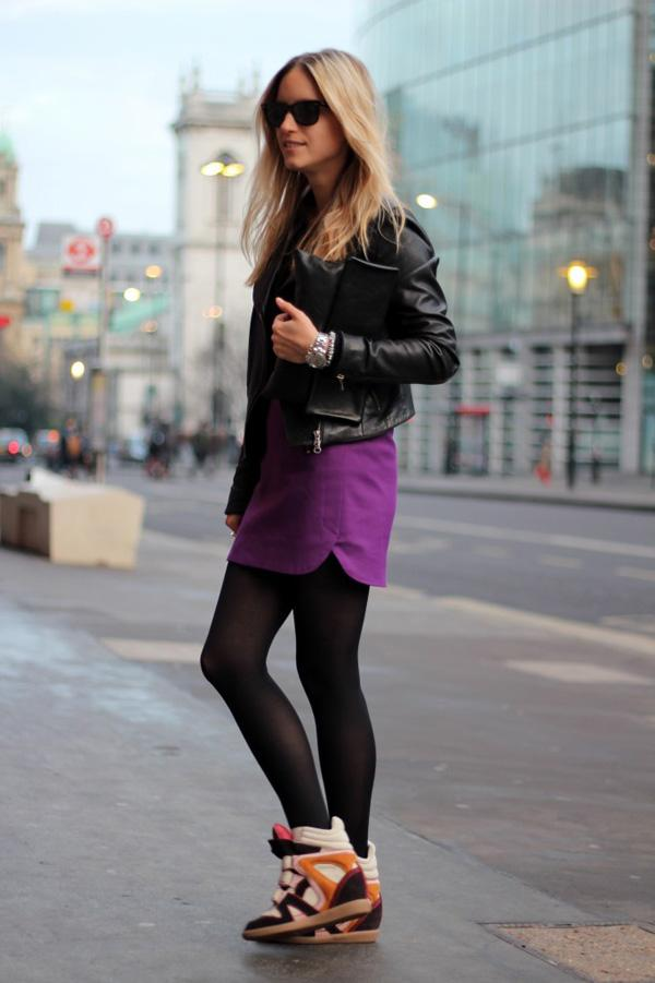 leather jacket with sneakers