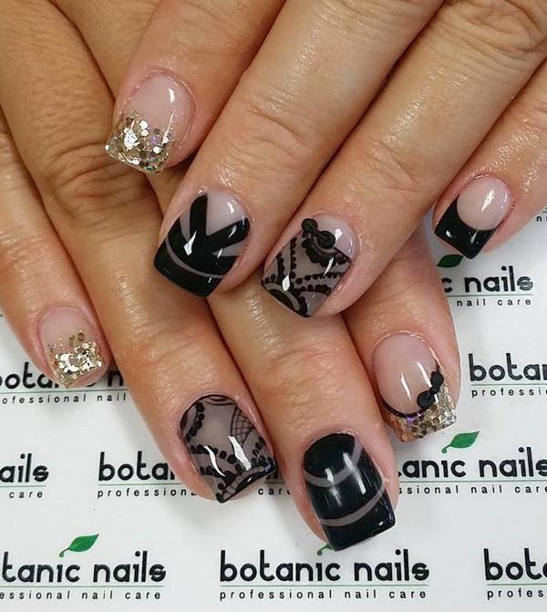 Black Nail Art-12
