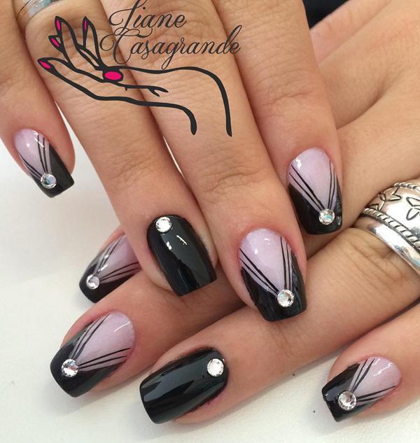 Black Nail Art-14
