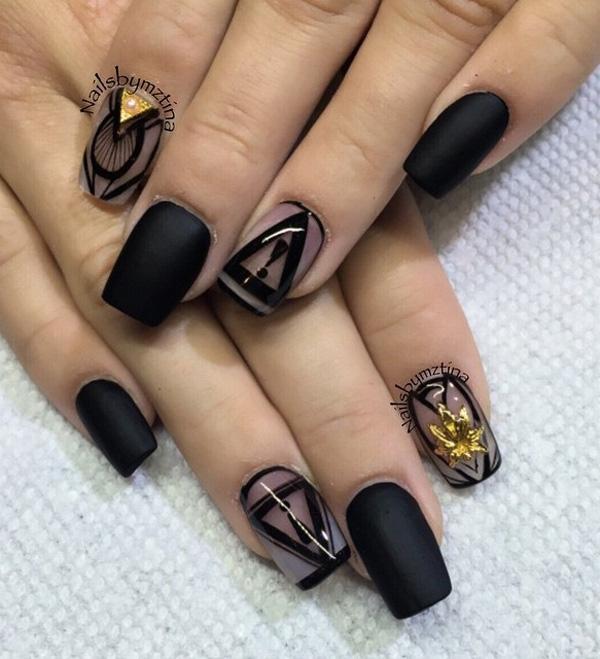 Black Nail Art-24