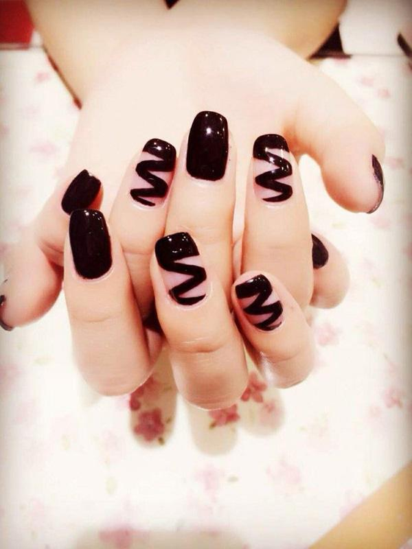 black chocolate syrup inspired nail art design let your nails look like youve - Nail Polish Design Ideas