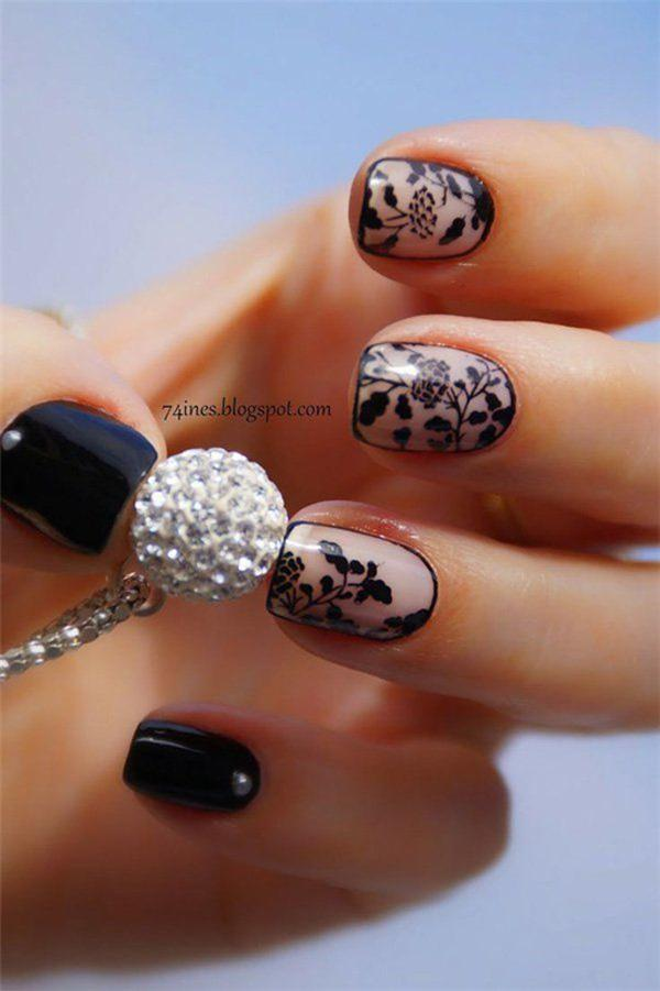 Black Nail Art-6