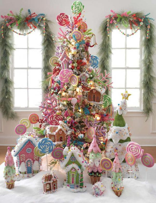 candy disney themed chirstmas tree deco for girls 30 christmas tree diy ideas