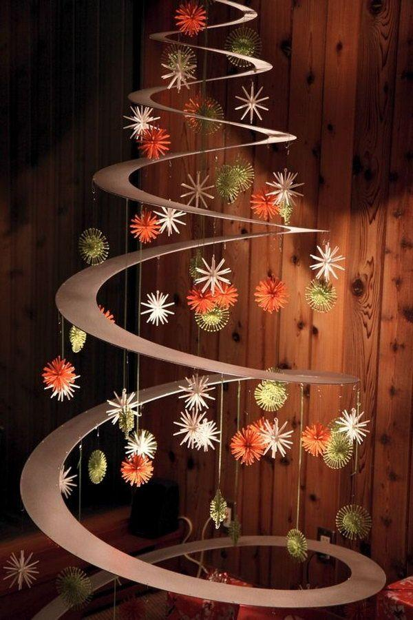 Modern type of Christmas tree using only Christmas ornaments. If you want a simple, ...