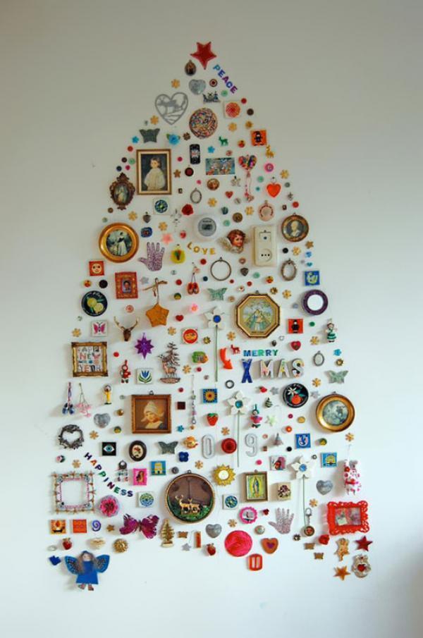DIY christmas tree wall decor