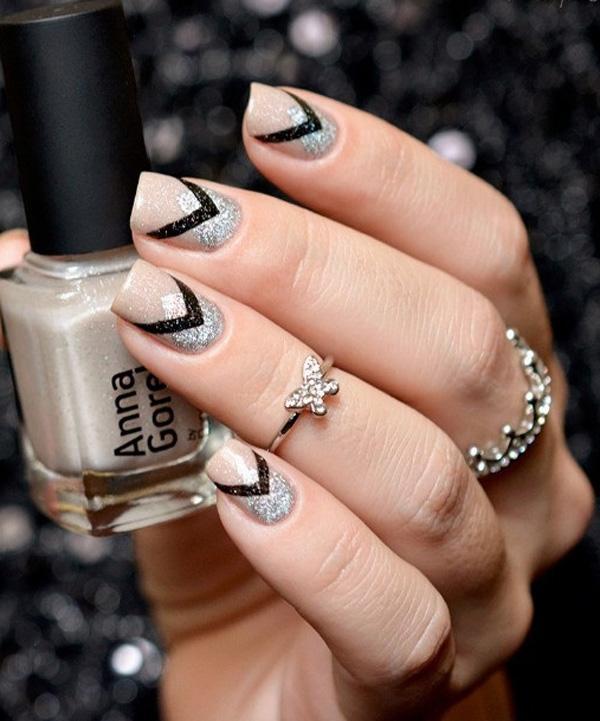 Generous gray nail art