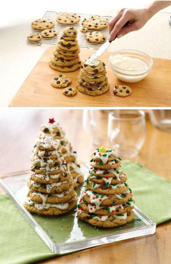chocolate chip cookie christmas tree