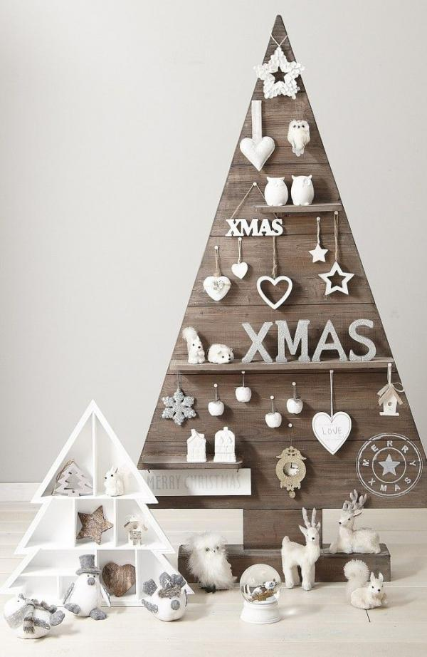 diy christmas tree deco made with ornaments