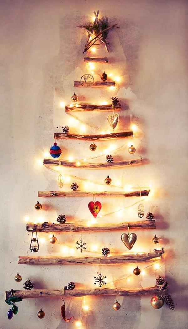 lighting decos in the shape of a christmas tree