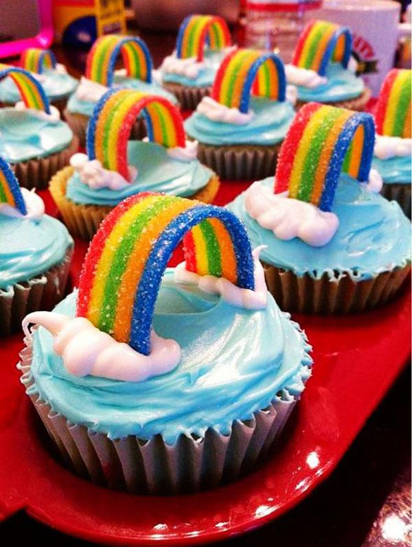 rainbow cupcakes for christmas creative food ideas, christmas rainbow cupcakes