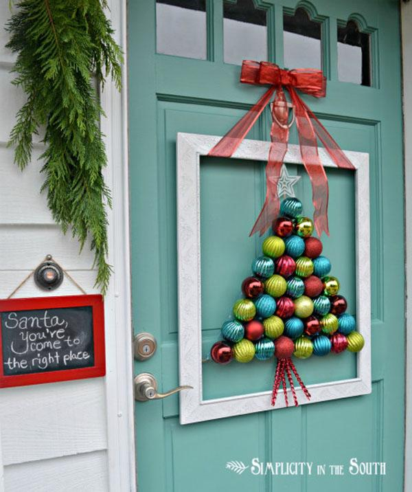 who says christmas balls are only for the christmas tree - How To Decorate Your Door For Christmas