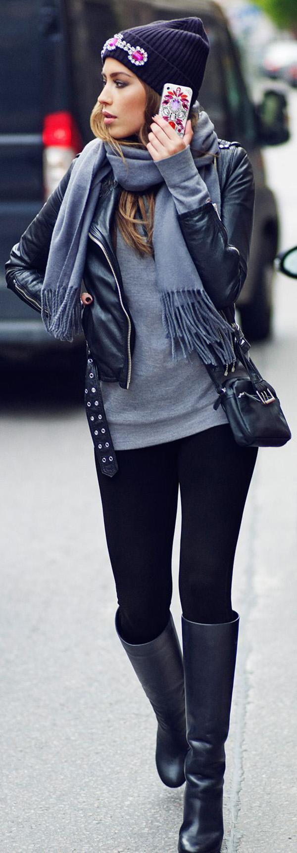 d6a95a579be winter street style - 60 Winter Outfit Ideas ...