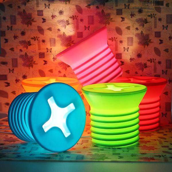Amazing` Unique Table Lamp Designs With colorful circle lamp cover