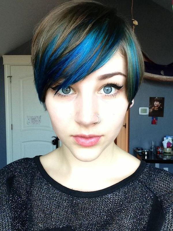 Blue dyed hair idea