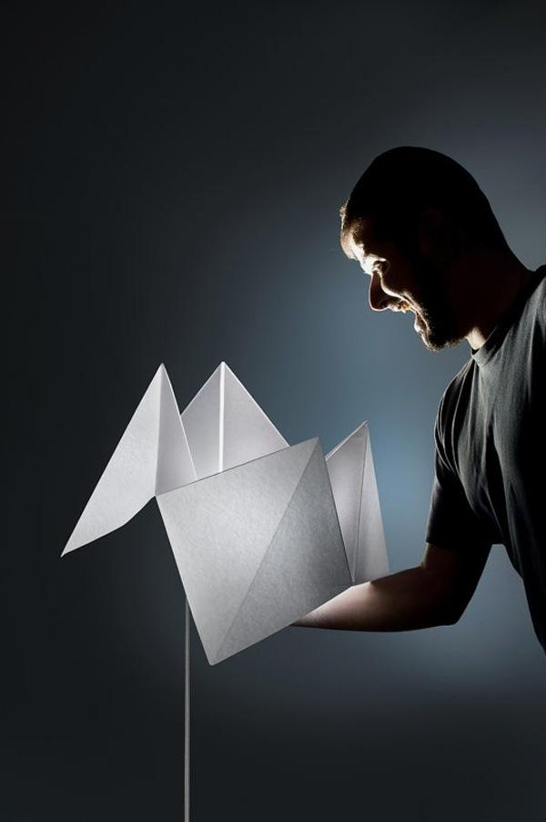 Flexible Lamp Inspired of Creative and Playful Folding Paper Game