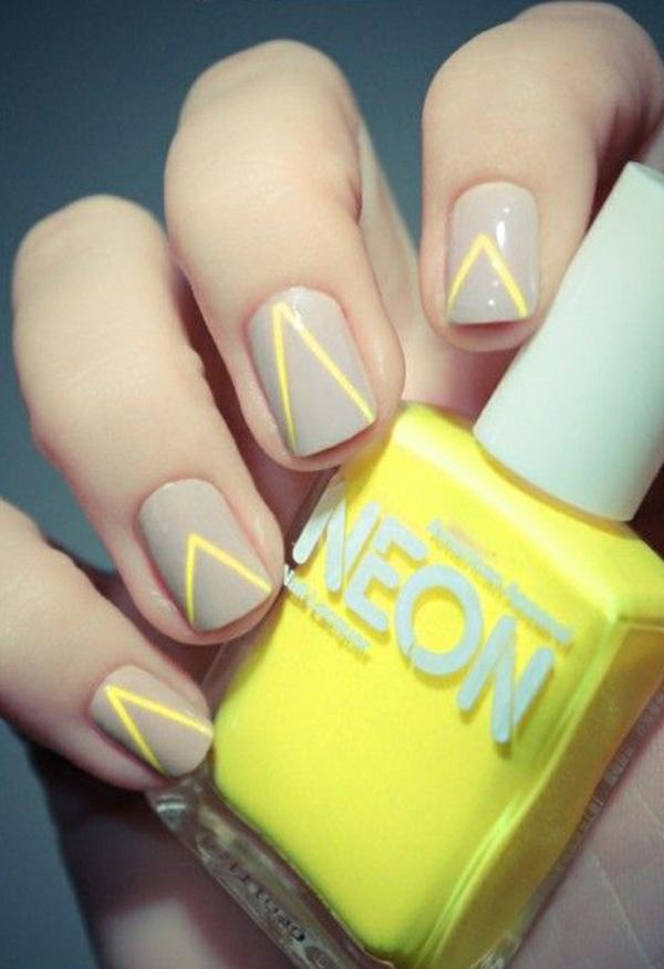 Gray with yellow nail