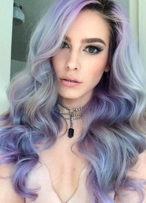 Iced blue, lilac and silver tones