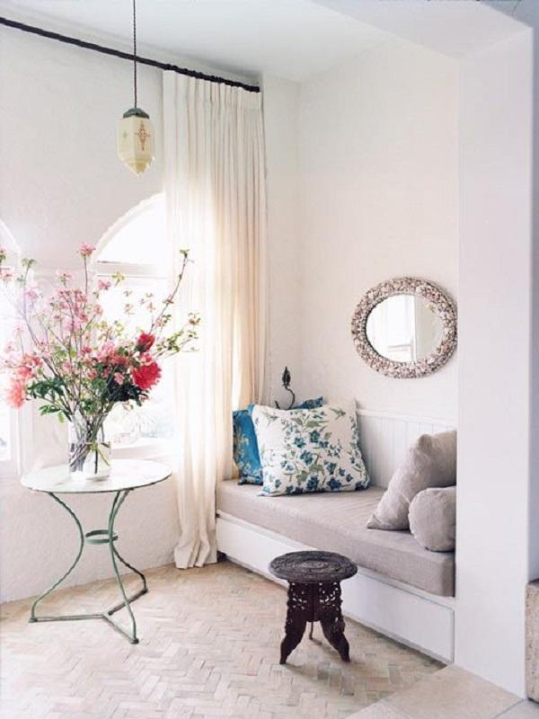A Really Sweet Looking Living Room Arrangement. Adding Various Shades Of  Pink Flowers On The ... Part 38