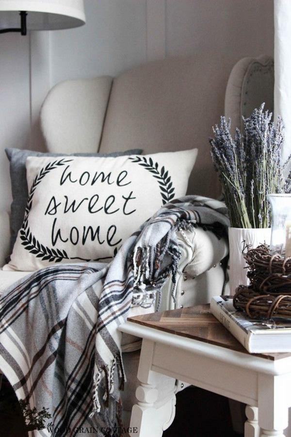 Make a Cottage Farmhouse Home Sweet Home Pillow