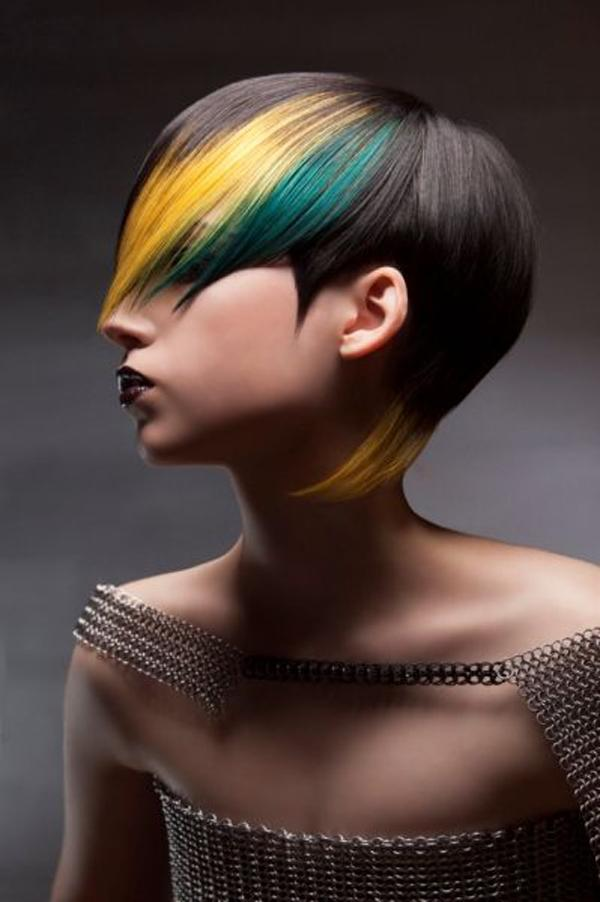 cool hair color by Salon Visage Team