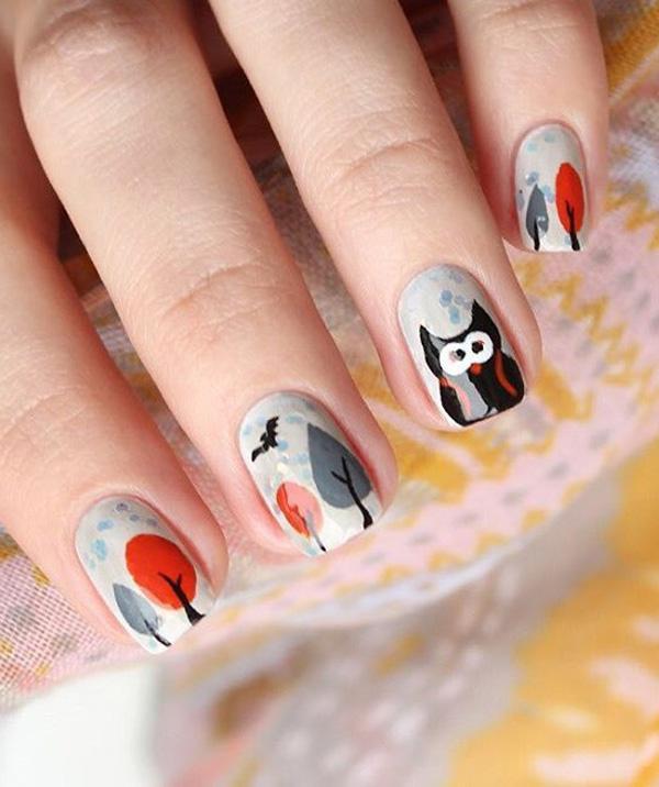 cute gray nail