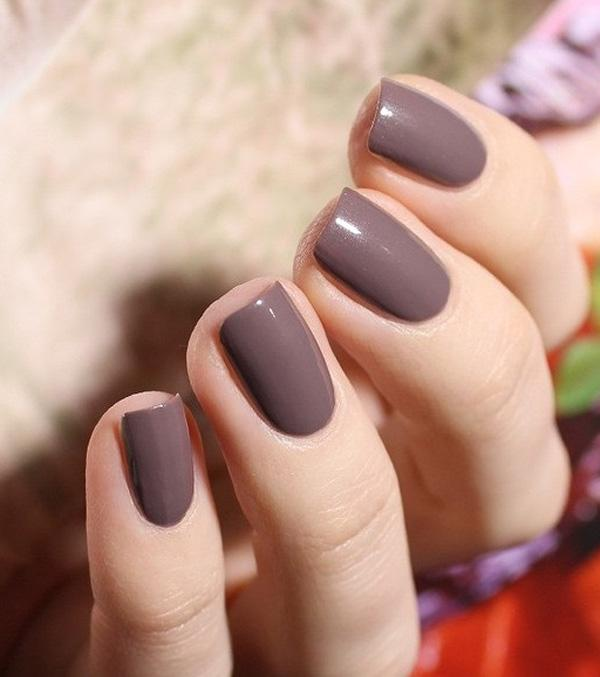35 gray nail art designs art and design elegant gary nail matte brown gray nails for a more elegant choice for a prinsesfo Image collections