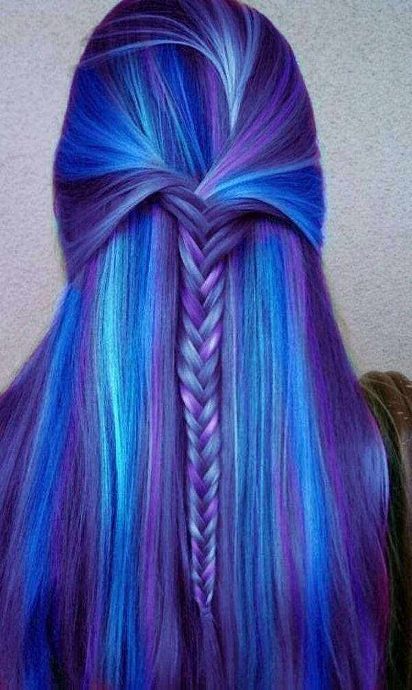 hair color blue and purple