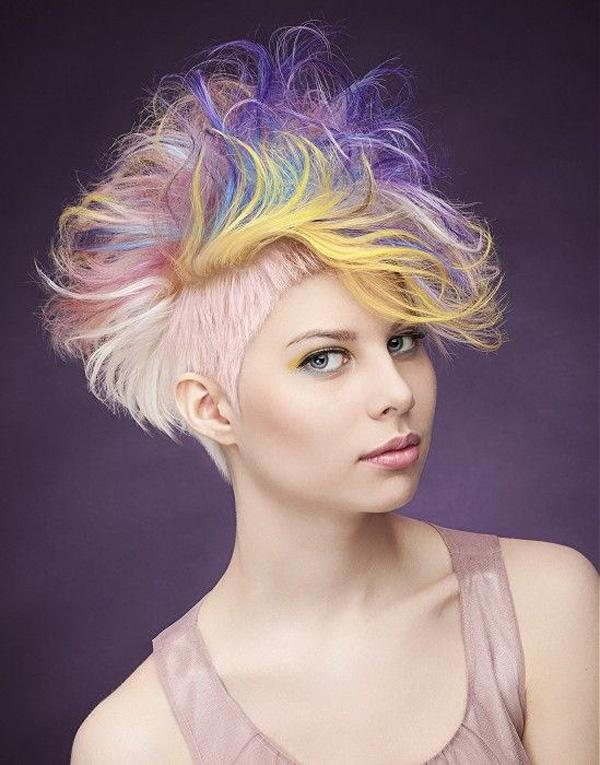rainbow dyed hair by Jon Tokje Olsen