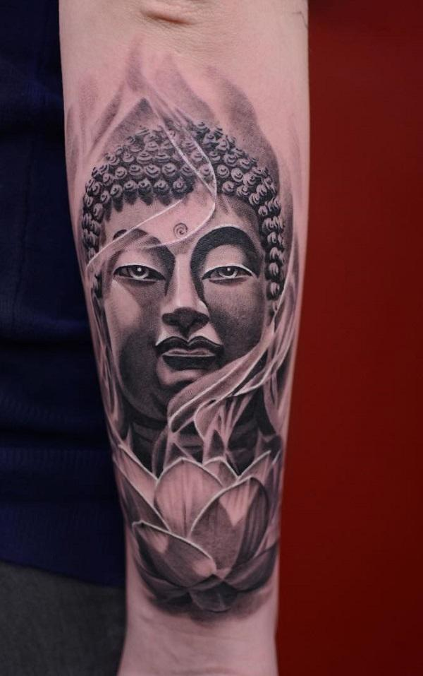 ba2dad92171da 60 Inspirational Buddha Tattoo Ideas | Art and Design