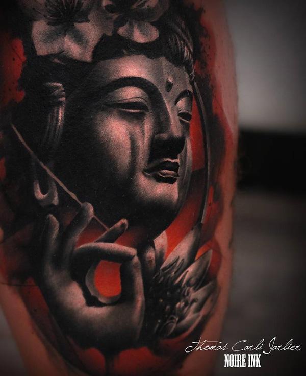 Buddha portrait   tattoo-12