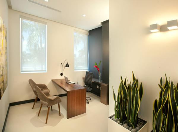 Itu0027s a medical office so the touch of greenery plus the cool lighting can make you ... & 20 inspirational Office Decor Designs | Art and Design azcodes.com