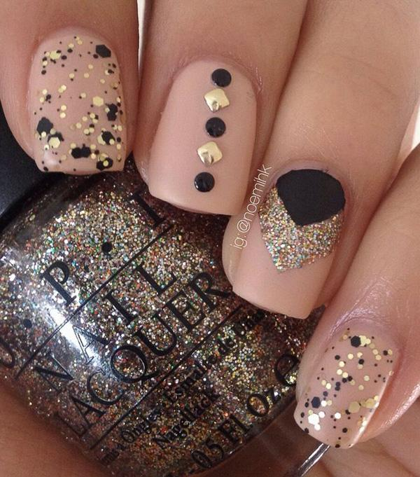 Nude color nail art-11