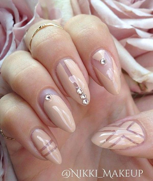 Nude color nail art-12