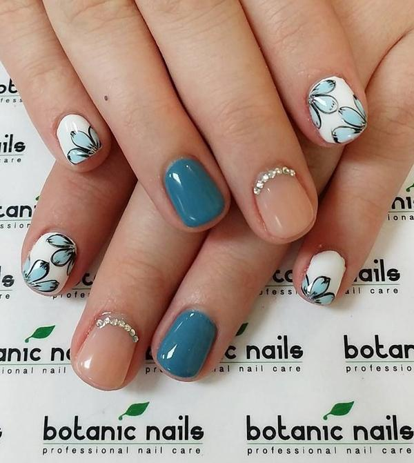 Nude color nail art-13