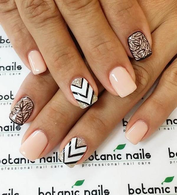 Nude color nail art-14