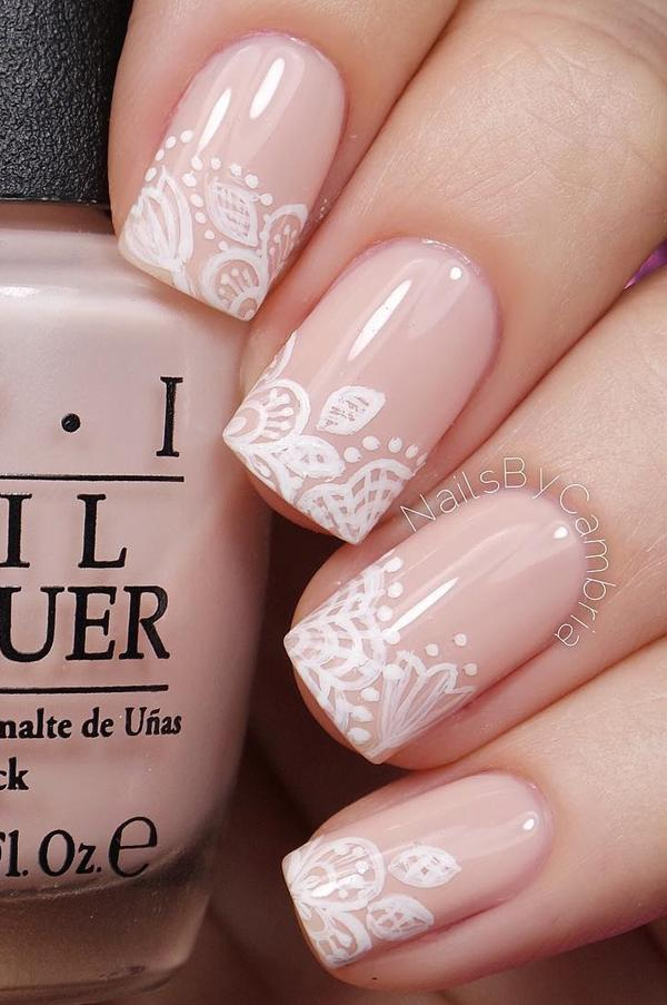 Nude color nail art-16
