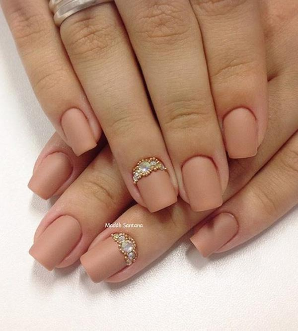 Nude color nail art-19