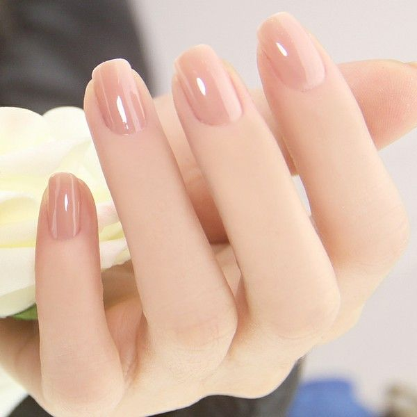 A glossy and perfect looking nude nail art. This type of nude polish makes  the ... - 40 Nude Color Nail Art Ideas Art And Design