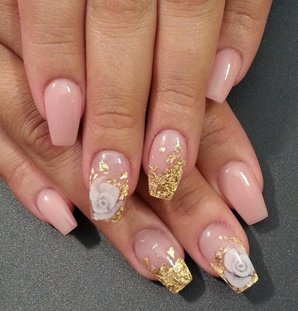 Nude color nail art-23