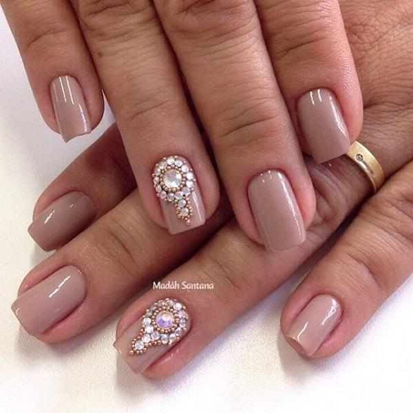 Nude color nail art-27