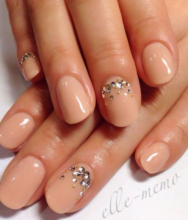Nude color nail art-29